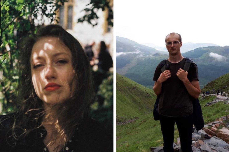 """""""Pirmosios knygos"""" konkurso laimėtojai Greta Dirmauskaite ir Mindaugas Kirka.<br>Organizatorių nuotr."""