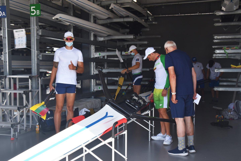 Lietuvos irkluotojai pradeda kovas Tokijo olimpiadoje.<br>L.Motužytės nuotr.