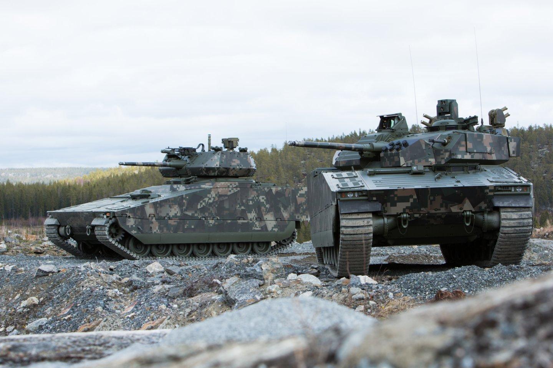 """Užklausas gavo """"CV90 MkIV"""" (nuotraukoje), """"ASCOD 2"""" ir """"Lynx KF41"""" gamintojai<br>""""BAE Systems"""" nuotr."""