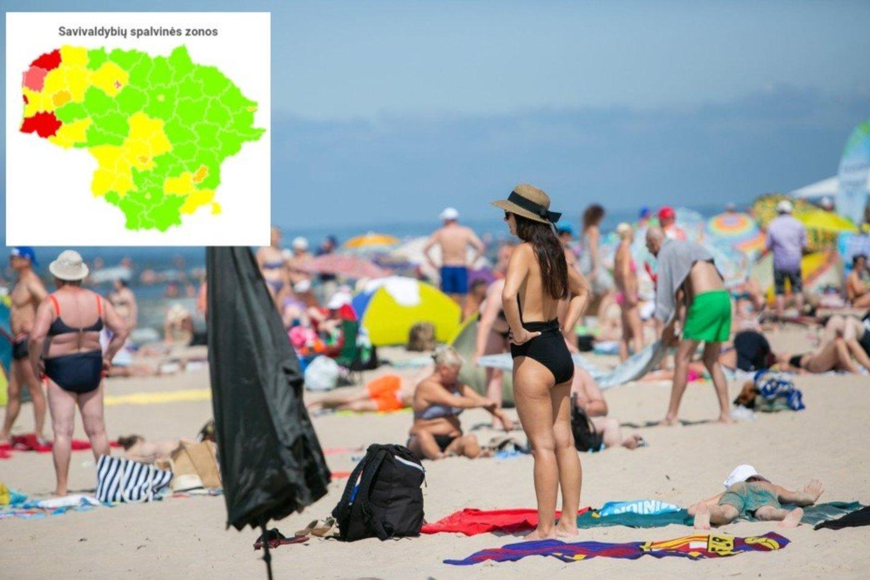 Atostogų linksmybės keičia Lietuvos COVID-19 vaizdą.<br>Lrytas.lt fotomontažas