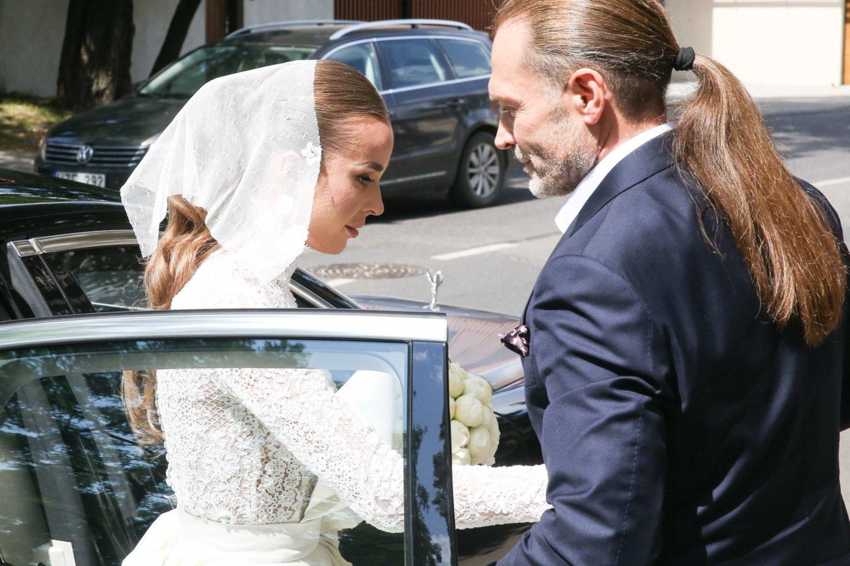 V.Siegel ir L.Suodaičio vestuvės.<br>R.Danisevičiaus nuotr.