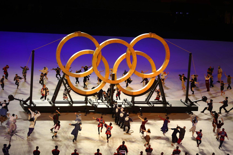 Tokijo olimpiados atidarymo ceremonija.<br>AFP/Scanpix.com nuotr.