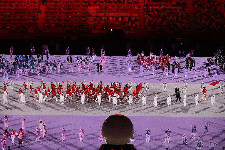 Tokijo olimpiados atidarymo ceremonija.<br>Reuters/Scanpix nuotr.