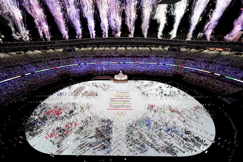 Tokijo olimpiados atidarymo ceremonija.<br>AP/Scanpix nuotr.