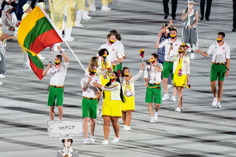 Tokijo olimpiados atidarymo ceremonija.<br>Vytauto Dranginio (LTOK) nuotr.