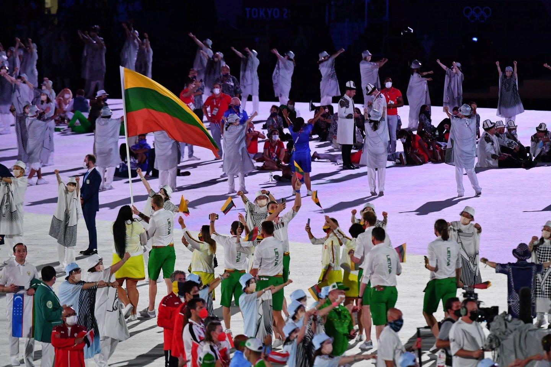 Tokijo olimpiados atidarymo ceremonija.<br>A.Pladžio nuotr.