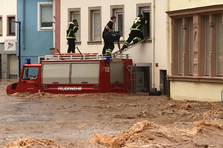 Potvyniai Vokietijoje.<br>AFP/scanpix nuotr.