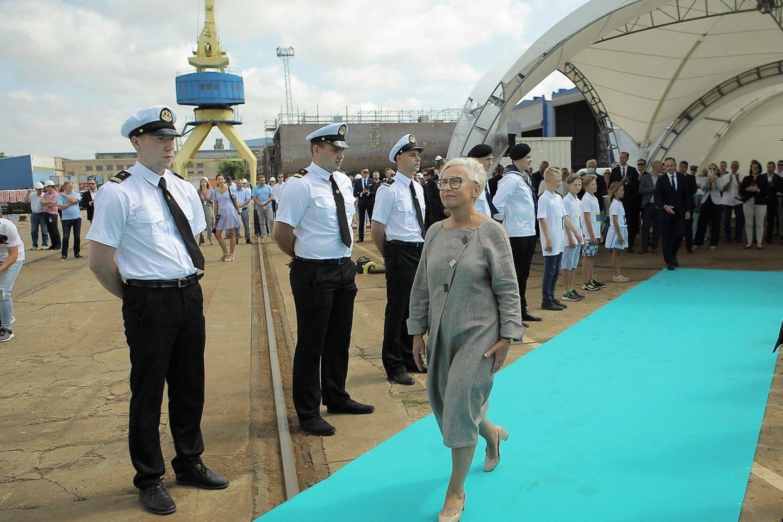 Kelto krikštamotė Olga Žalienė.<br>G.Pilaičio nuotr.