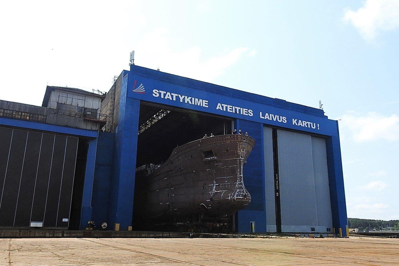 Vakarų Baltijos laivų statykla.<br>G.Pilaičio nuotr.