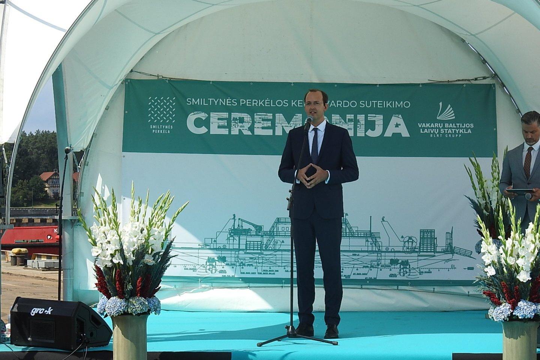 Susisiekimo ministras Marius Skuodis.<br>G.Pilaičio nuotr.