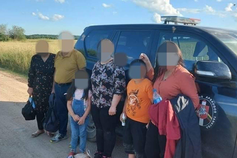 Migrantai Lietuvoje.<br>VSAT nuotr.