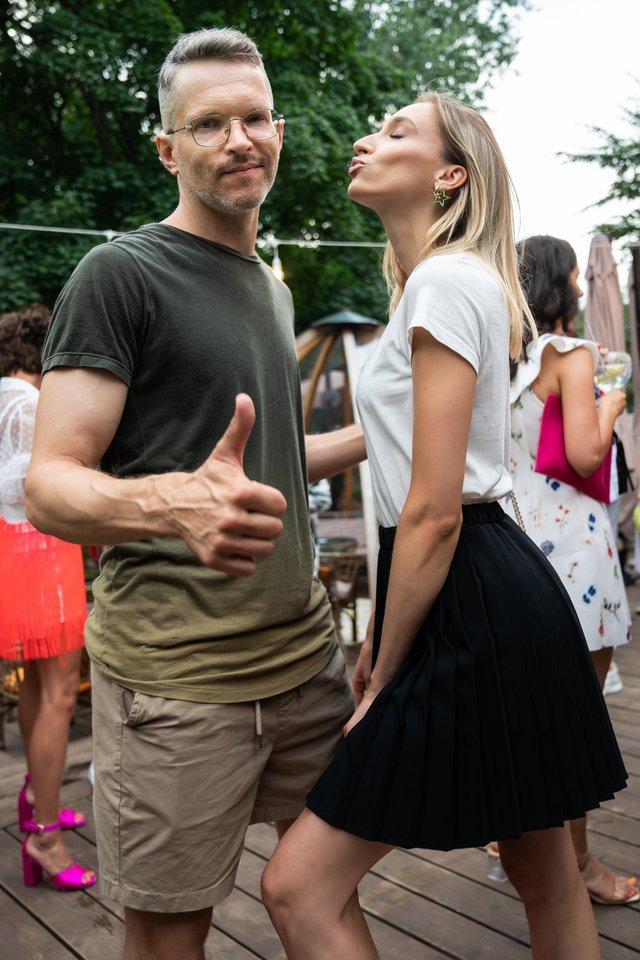Fotografas Gediminas Žilinskas su mylimąja Beatriče Brusokaite.