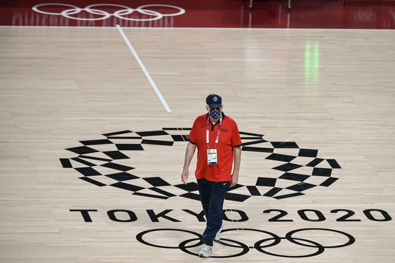 JAV rinktinės trenerio G.Popovichiaus laukia sunki užduotis.<br>AFP/Scanpix nuotr.