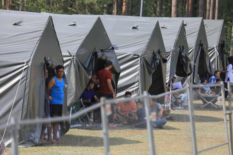 Dėl plūstančių pabėgėlių Lietuva susiduria su iki šiol nematytais iššūkiais.<br>AFP/Scanpix nuotr.