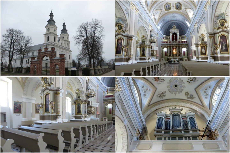 Restauruota Žemaičių Kalvarijos mažoji bazilika atgimė iš naujo.<br>Lrytas.lt koliažas.