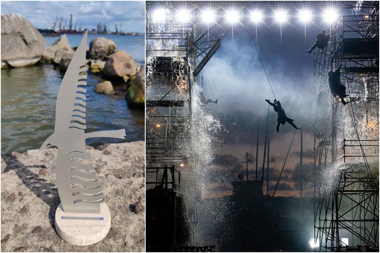 """Statulėlės – """"Albatroso"""" paminklo sumažintos kopijos – teikiamos ne tik jūrininkams, bet ir kitaip su jūra susijusiems asmenims, kurie savo veikla prisideda prie Klaipėdos uostamiesčio garsinimo.<br>Lrytas.lt koliažas."""