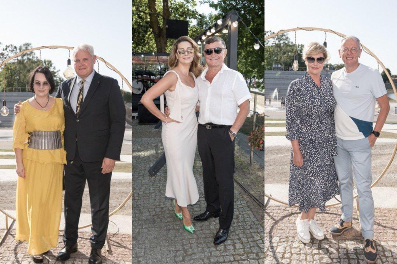 Iš kairės: Vytautas Grubliauskas su žmona Inga, Daina ir Antanas Bosai, Rolanda Lingienė su širdies draugu Fredericu Pauma.<br>Organizatorių nuotr.