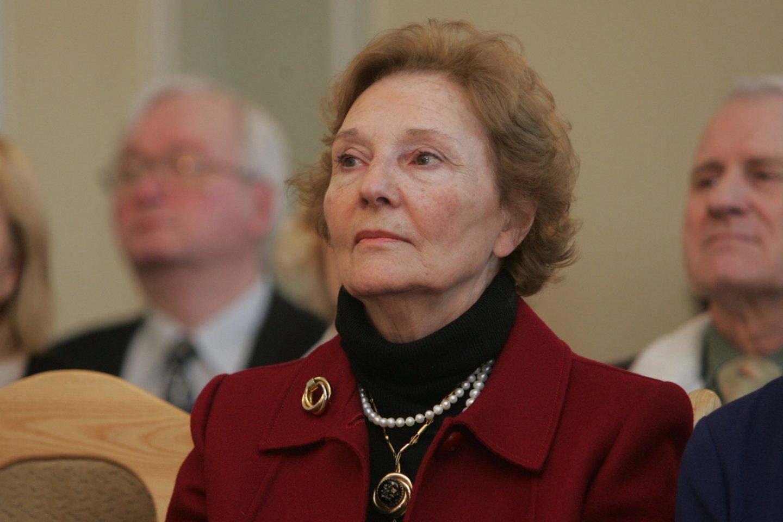 Ambasadoriaus Kazio Lozoraičio žmona Džovana Pinjateli Lozoraitis.<br>A.Barzdžiaus nuotr.