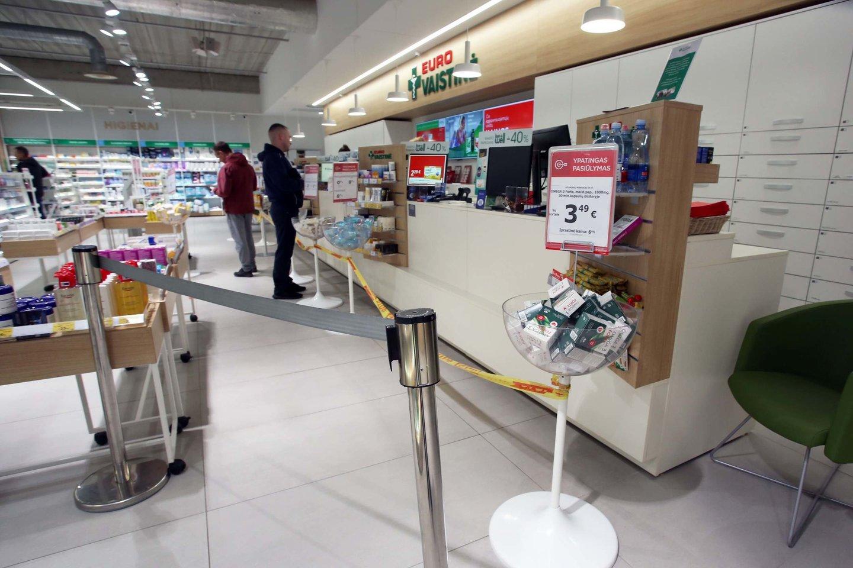 Pusantrų metų Lietuvą sukausčiusi koronaviruso krizė vaistų tiekimo nesutrikdė.<br>M.Patašiaus nuotr.
