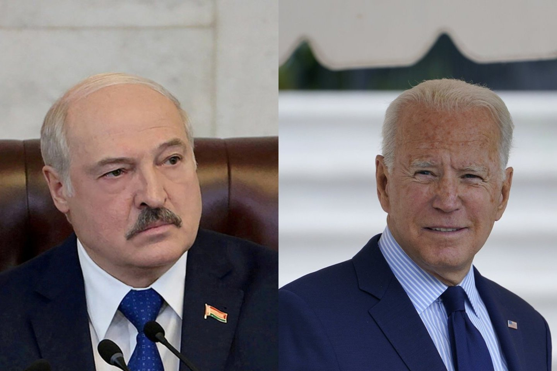 JAV prezidento Joe Bideno administracija svarsto galimybę skelbti naujas ekonomines sankcijas Baltarusijai.<br>Reuters ir AP/Scanpix nuotr.