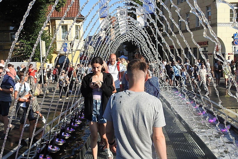 Biržos tilto fontanas.<br>G.Pilaičio nuotr.