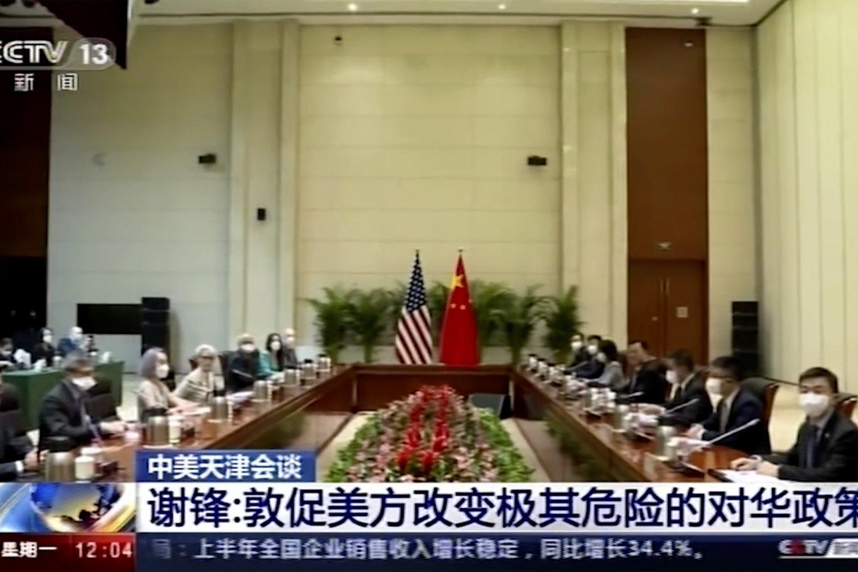 """Xie Fengas taip pat sakė, kad santykiai tarp šalių """"patekę į aklavietę"""" ir susiduria su """"rimtais sunkumais"""".<br>AP/Scanpix nuotr."""