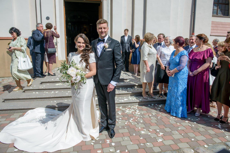 Evelinos Sašenko ir Giedriaus Statulevičiaus vestuvės.<br>J.Stacevičiaus nuotr.