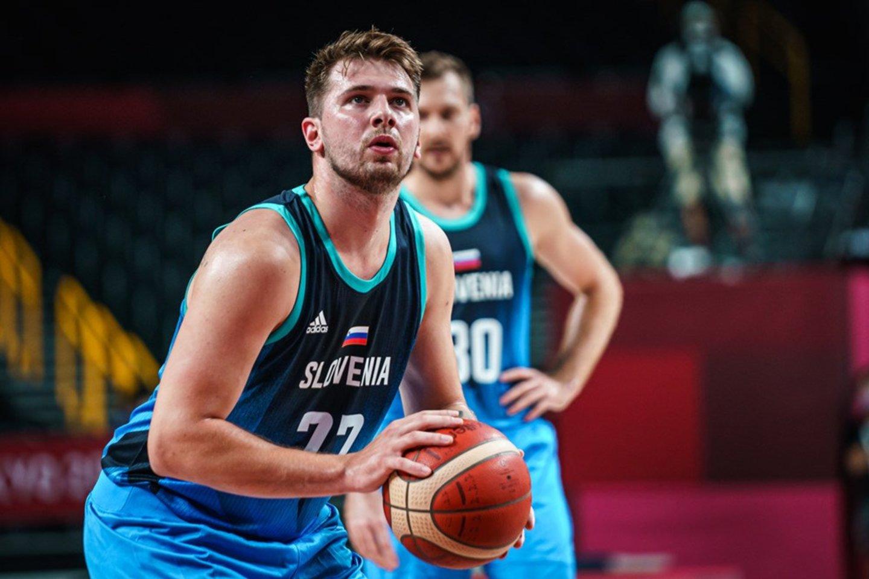 Luka Dončičius įspūdingai debiutavo olimpinėse žaidynėse.<br>FIBA nuotr.