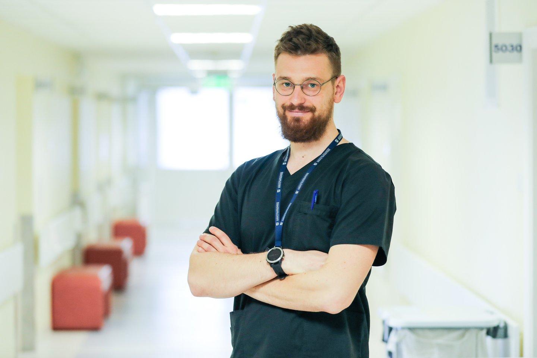 Gydytojas neurochirurgas Karolis Bareikis.<br>Kauno klinikų nuotr.