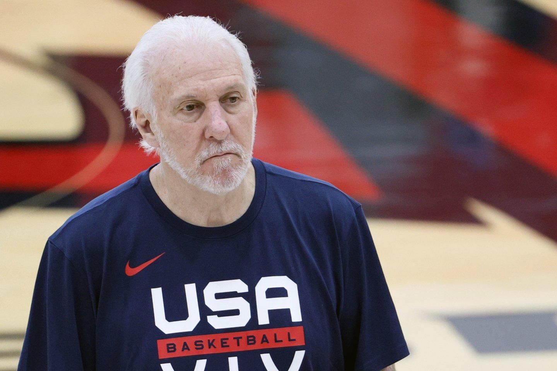 JAV rinktinės treneris G.Popovichius.<br>AFP/Scanpix nuotr.