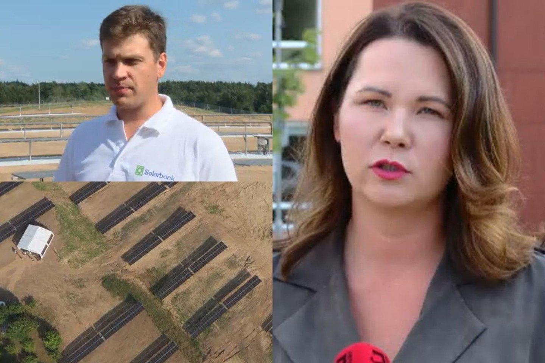 Atidaryta didžiausia saulės elektrinė Lietuvoje.<br>Lrytas.lt fotomontažas