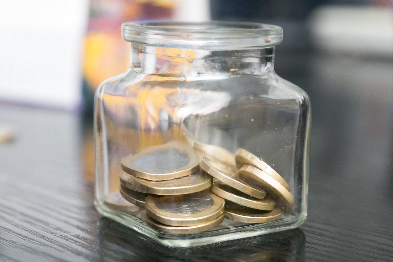 pinigai pašalpa išmoka atlyginimas pensija pinigas moneta monetos minimumas arbatpinigiai santaupos išmokos piniginė<br>T.Bauro nuotr.