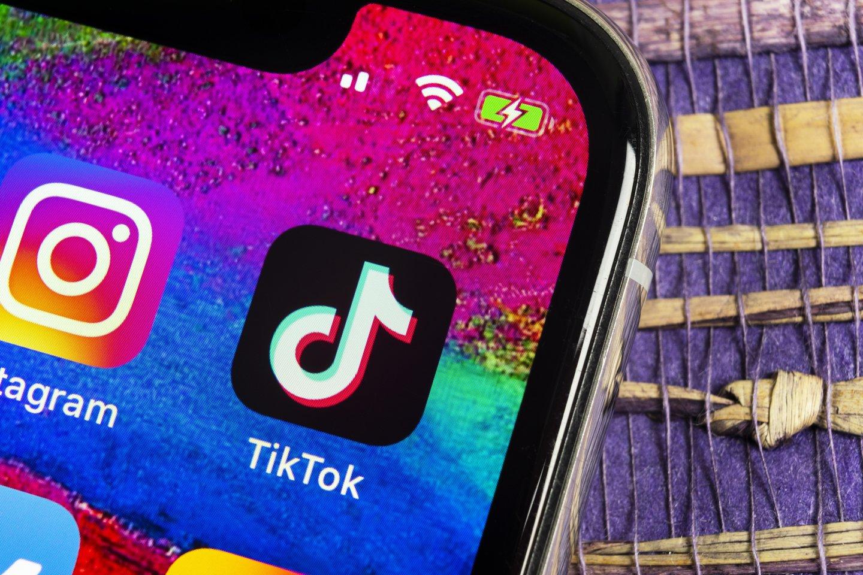 """Nyderlandų duomenų apsaugos institucijos praėjusią savaitę skyrė 750 tūkst. eurų baudą """"TikTok"""", sakydamos, kad socialinės socialinis tinklas pažeidė Nyderlanduose galiojančias vaikų privatumo apsaugos taisykles.<br>123rf nuotr."""