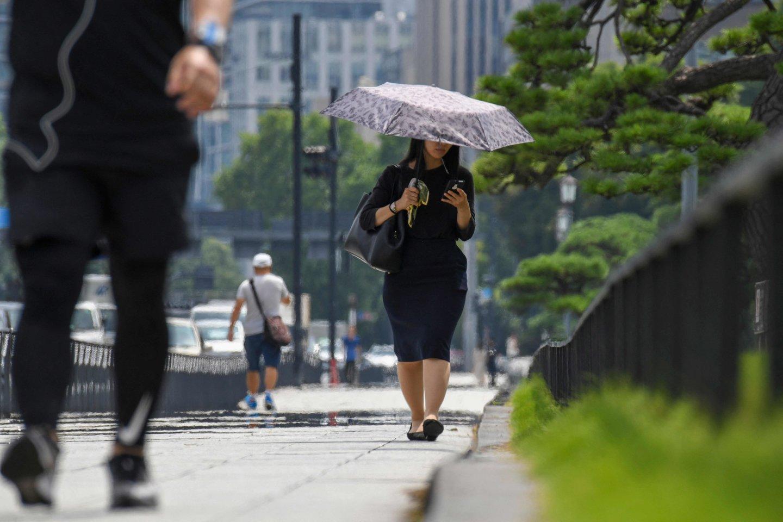 Tokijuje laukiama audra.<br>Reuters/Scanpix.com nuotr.