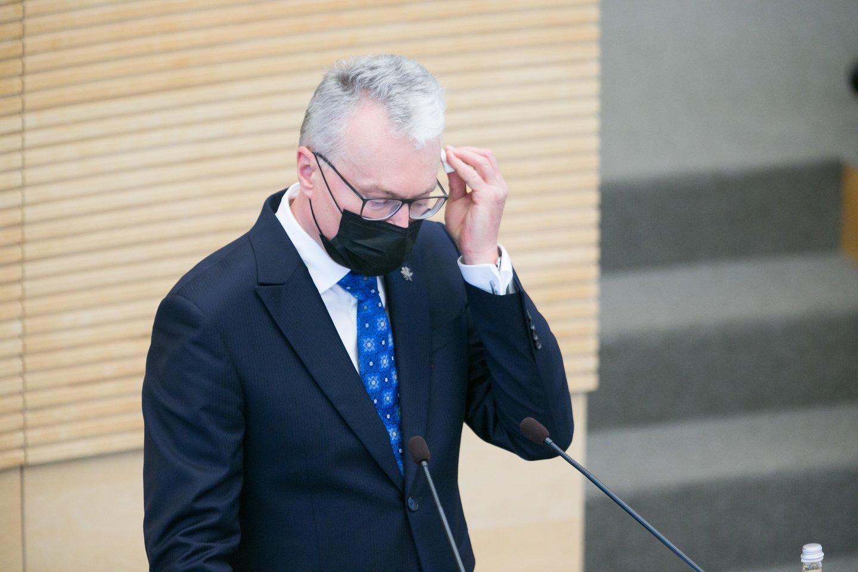 G.Nausėda stengiasi būti aktyvus vidaus politikoje, tačiau retai sulaukia palaikymo iš Seimo.<br>T.Bauro nuotr.