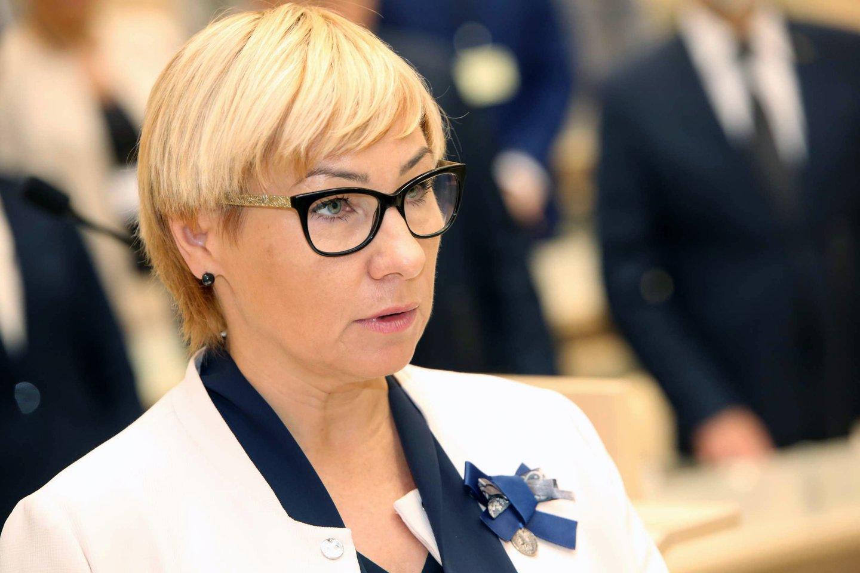 Švietimo, mokslo ir sporto ministrė J.Šiugždinienė.<br>M.Patašiaus nuotr.