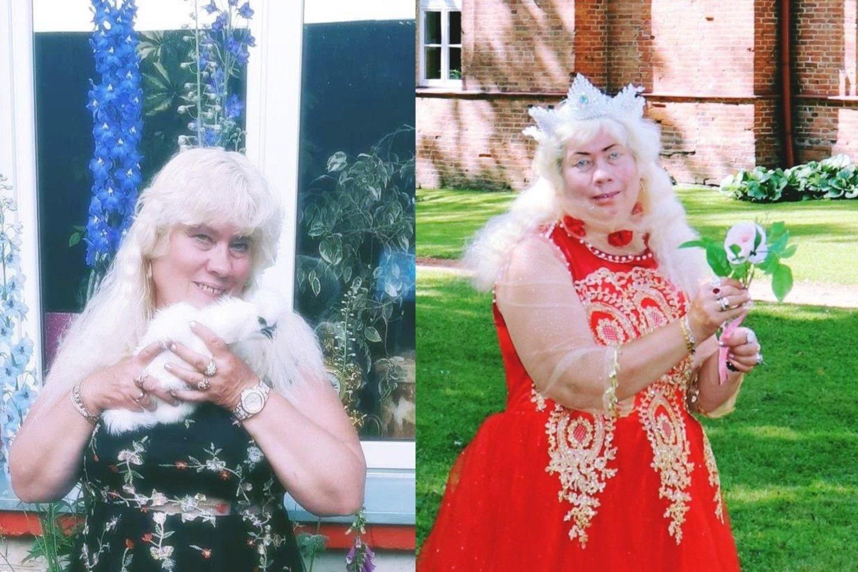 Lina dabar (kairėje) ir beveik prieš metus.<br>Asmeninio albumo nuotr.