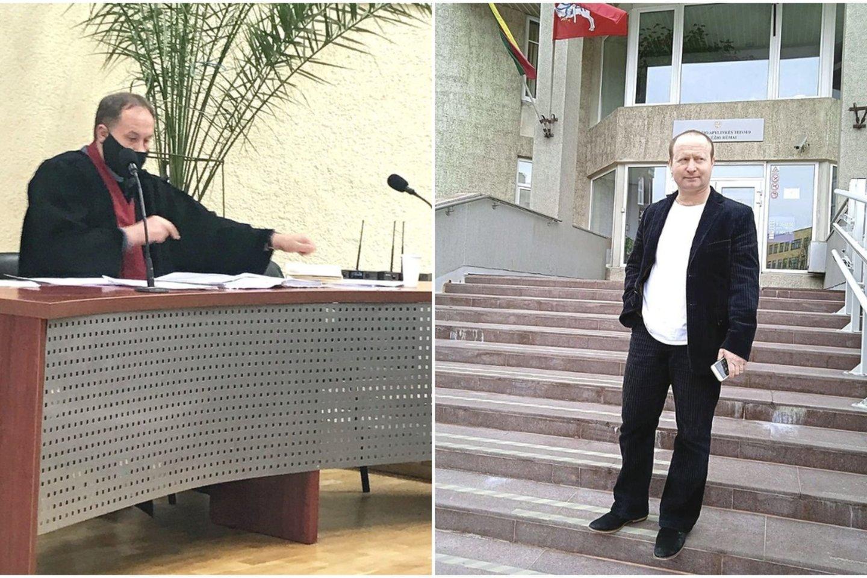 Panevėžio apygardos prokuratūros prokuroras A.Amparavičius (nuotr. kairėje) nuolat sulaukia netikėtumų iš verslininko J.Grafmano.