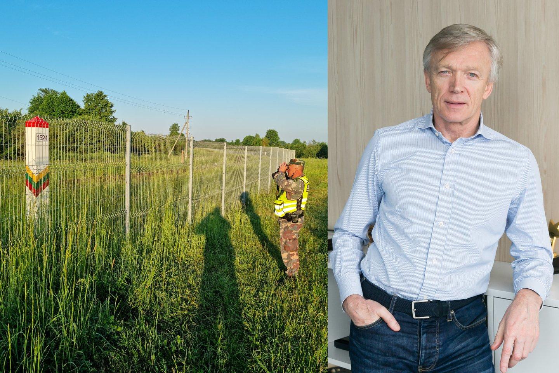 G.Nausėda kreipėsi į verslininkus, siūlydamas eiti į talką ir pasidalinus po gabaliuką pastatyti sieną su Baltarusija.<br>Lrytas.lt koliažas.