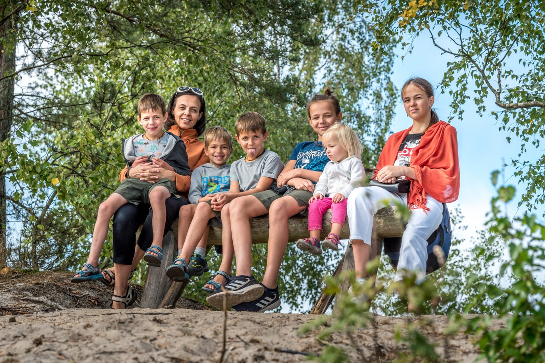 Vytautas ir Jurgita augina 7 vaikus ir laukia aštuntojo.<br>Asmeninio archyvo nuotr.
