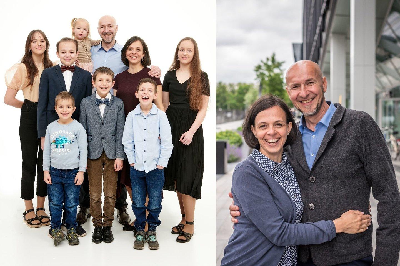 Vytautas ir Jurgita augina 7 vaikus ir laukia aštuntojo.<br>J. Kamensko nuotr.