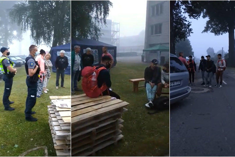 Į Dieveniškes apie 5 val. rytotiesiai iš pasienio atėjoketuri ką tik nelegaliai Lietuvos sieną kirtę migrantai.<br>Lrytas.lt koliažas