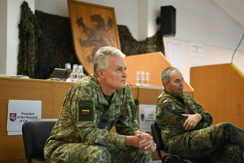 Prezidentas G.Nausėda papriešatravo valdančiųjų siūlymui įvesti nepaprastąją padėtį.<br>LR Prezidento kanceliarijos/R. Dačkaus nuotr.