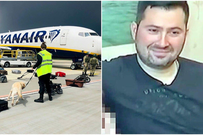 """Iš Atėnų į Vilnių skridusį """"Ryanair"""" lėktuvą Minske nutupdęs skrydžių kontrolierius Olegas Galegovas išėjo atostogų ir dingo iš Baltarusijos.<br>lrytas.lt koliažas."""