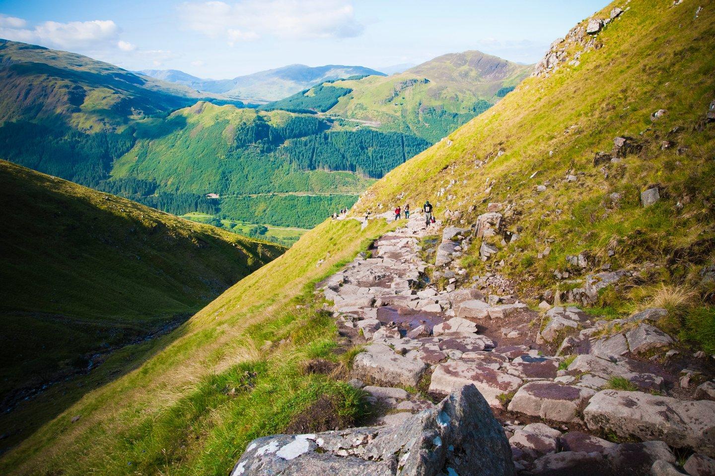 """Johno Muiro fondas pareiškė, kad žmonėms, norintiems užlipti į Ben Neviso kalną (nuotraukoje), """"Google Maps"""" gali nurodyti maršrutą, """"kuris yra pavojingas net ir patyrusiems alpinistams"""".<br>123rf nuotr."""