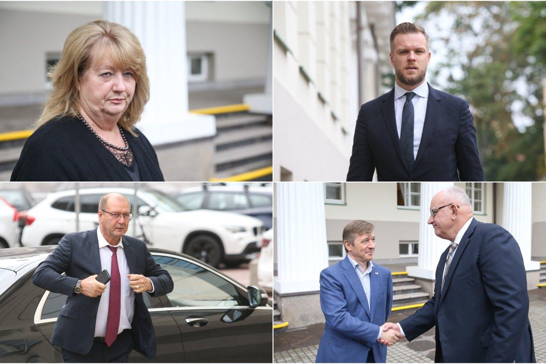 Prezidentas Gitanas Nausėda su premjere Ingrida Šimonyte bei parlamentinių partijų lyderiais ketvirtadienį susitiko aptarti migracijos krizės valdymą bei užsienio politikos principus.<br>Lrytas.lt koliažas