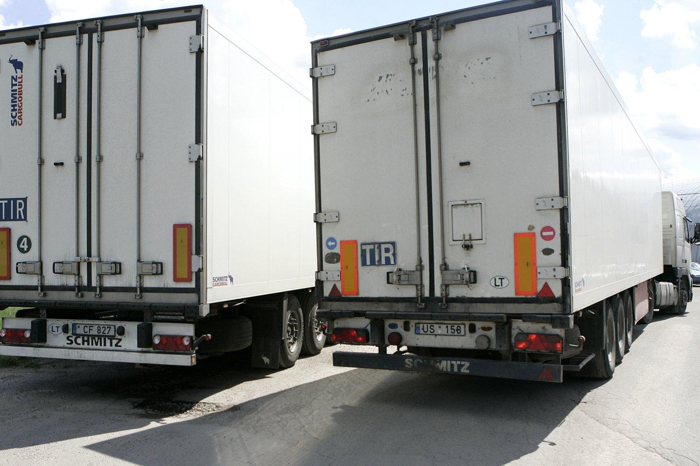 Vežėjų atstovai aiškino, kas lemia, kad daugelis tolimųjų reisų vairuotojų dar nepasiskiepiję.<br>T.Stasevičiaus nuotr.
