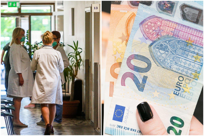 Medikai masiškai kreipiasi į Darbo ginčų komisiją dėl laužomos kolektyvinės sutarties bei nedidinamo darbo užmokesčio.<br>lrytas.lt koliažas