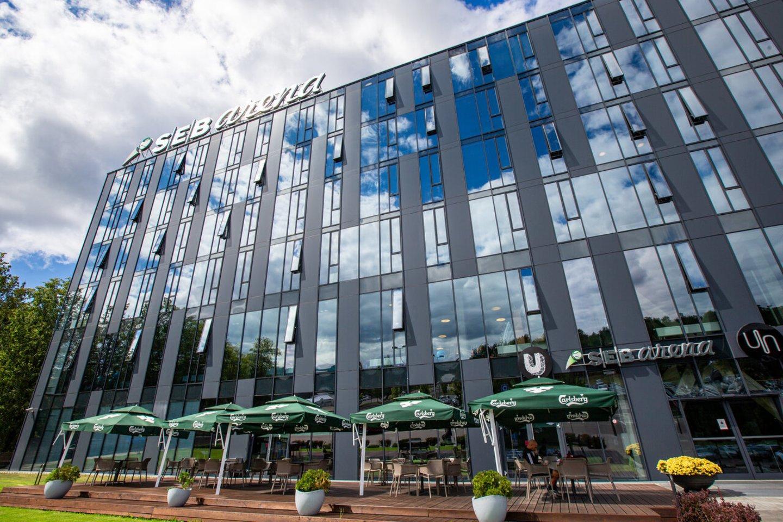 """Trečiadienį gautas statybą leidžiantis dokumentas vykdyti vieno didžiausio uždarų teniso kortų komplekso Baltijos šalyse – """"SEB arenos"""" Vilniuje rekonstrukciją.<br>""""Darnu group"""" nuotr."""