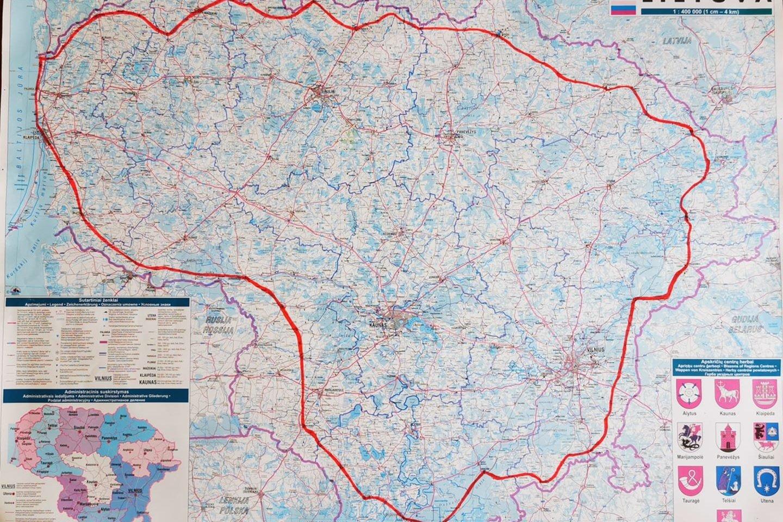 Ugnės maršrutas prasidėjo ir baigėsi Žagarėje. Lietuvą ji apėjo prieš laikrodžio rodyklę.<br>Asmeninio archyvo nuotr.